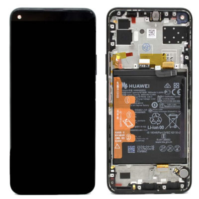 Genuine Huawei P40 Lite 5G LCD Screen & Touch Digitiser With Frame & Battery – Black