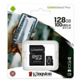 Kingston Micro SD SDHC Memory Card Class 10 128GB 100 MB/S Canvas Select Plus