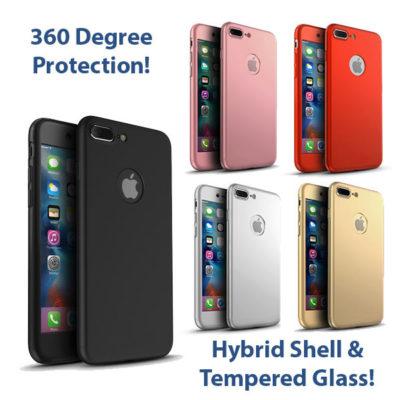 iPhone 7 Plus 360º Ultra Thin Hard Hybrid Case & Tempered Glass