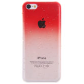 iPhone 5c Slim 3D Raindrop Hard Red / Clear Case