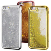 iPhone 6 / 6S Liquid Glitter Filled Chrome Effect Gel Case