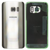 Genuine Samsung G930 Galaxy S7 Rear Back Glass / Battery Cover With Camera Lens - Silver