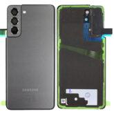 Genuine Samsung G991 Galaxy S21 Rear Back Glass / Battery Cover With Camera Lens - Phantom Grey