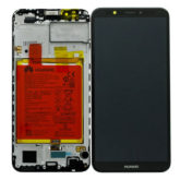 Genuine Huawei Y7 2018 LCD Screen & Touch Digitiser With Frame & Battery - Black