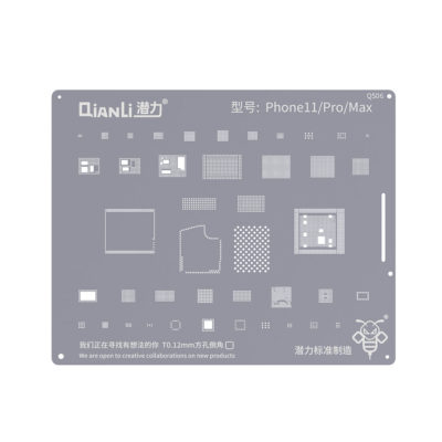 Qianli QS06 2D Bumblebee iPhone 11 / 11 Pro / 11 Pro Max BGA Re-Balling Stencil Template
