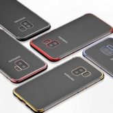 Samsung Galaxy A8 2018 Ultra Thin Clear Gel & Chrome Effect