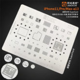AMAOE iPhone 11 / 11 Pro / 11 Pro Max A13 BGA Stencil Template For Re-balling IC Chips