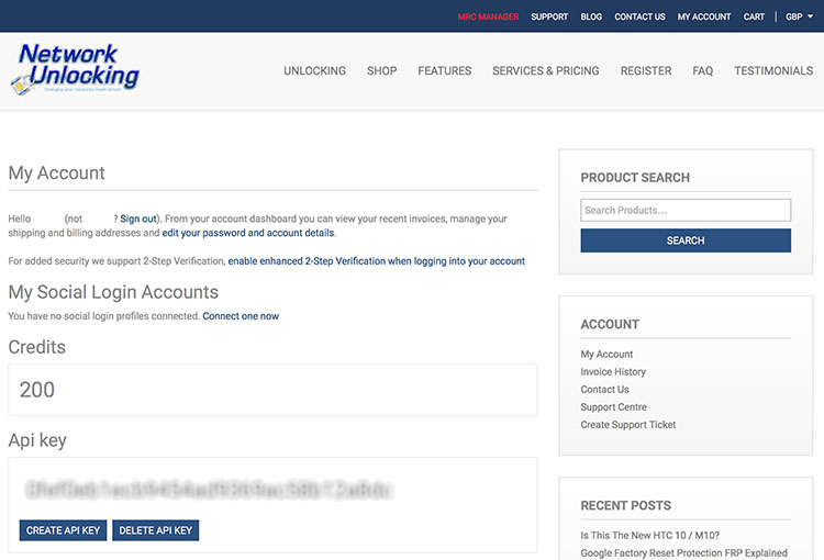 Get your own unlocking website