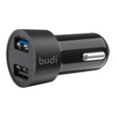 budi 3.4A Twin USB Port Car Charger