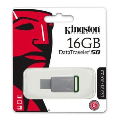 Kingston DataTraveler 50 16GB USB 3.0 Flash Stick Pen Memory Drive