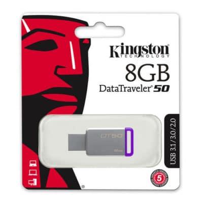 Kingston DataTraveler 50 8GB USB 3.0 Flash Stick Pen Memory Drive
