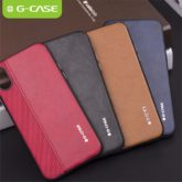 G-Case Earl Series PU Leather & Canvas Case - iPhone XS Max