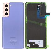 Genuine Samsung G991 Galaxy S21 Rear Back Glass / Battery Cover With Camera Lens - Phantom Violet