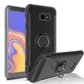 Samsung Galaxy J4 Plus Hybrid Carbon Dual-Layer Armor Case With Magnetic Ring Stand
