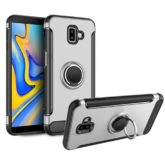 Samsung Galaxy J6 Plus Hybrid Carbon Dual-Layer Armor Case With Magnetic Ring Stand