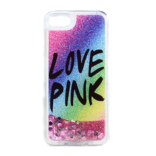 promo code 83f27 6183b iPhone SE / 5s / 5 Love Pink Liquid Glitter Filled Gel Case