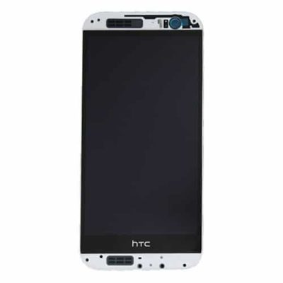 Genuine HTC M8 LCD Screen & Touch Digitiser With Frame – White