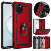 Samsung Galaxy Note 10 Lite Hybrid Dual-Layer Armour Case With Magnetic Ring Stand