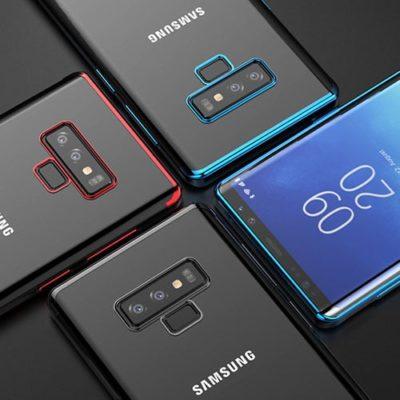 Samsung Galaxy Note 9 Ultra Thin Clear Gel & Chrome Effect