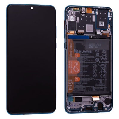 Genuine Huawei P30 Lite LCD Screen & Touch Digitiser With Frame & Battery – 14 Day