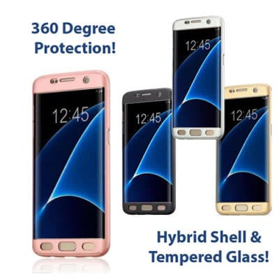 Samsung G930F Galaxy S7 360º Ultra Thin Hard Hybrid Case & Tempered Glass