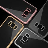 Samsung Galaxy S8 Ultra Thin Clear Gel & Chrome Effect