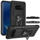 Samsung Galaxy S8 Hybrid Dual-Layer Armour Case With Magnetic Ring Stand - Black