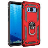 Samsung Galaxy S8 Hybrid Dual-Layer Armour Case With Magnetic Ring Stand - Red