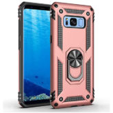 Samsung Galaxy S8 Hybrid Dual-Layer Armour Case With Magnetic Ring Stand - Rose Gold