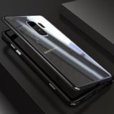 Samsung G960 Galaxy S9 Magnetic Absorption Metal Case With Tempered Glass Back