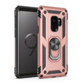Samsung Galaxy S9 Hybrid Dual-Layer Armour Case With Magnetic Ring Stand - Rose Gold