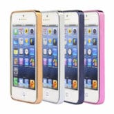 iPhone SE / 5s / 5 Ultra Thin Clear Gel & Chrome Effect Case