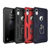 iPhone XR Hybrid Dual-Layer Armour Case With Magnetic Ring Stand